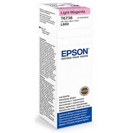 Epson L800 Light Magenta ink bottle 70ml (10 x 15 - 1800 Photo Pages) C13T67364A