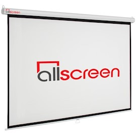 პროექტორის ეკრანი ALLSCREEN MANUAL PROJECTION SCREEN 221X125CM HD FABRIC CWP-100169
