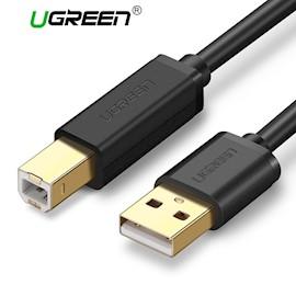 პრინტერის კაბლი UGREEN US135 USB 2.0 AM to BM Print Cable 5M Gold-Plated US135 (Black) 5M