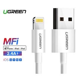 მობილურის დამტენი Ugreen US155 (20728) USB Cable for iPhone Xs Max XR 2.4A MFi Lightning USB Fast Charging Cable for iPhone X 8 7 Mobile Phone USB Charger Cord