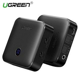 უსადენო გადამცემი ყურსასმენებისთვის და დინამიკებისთვის UGREEN CM144 (50256) Bluetooth Transmitter & Receiver Version 4.2 (Black)