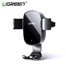 უსადენო დამტენი + ტელეფონის სამაგრი მანქანისთვის UGREEN CD157 (50583) Wireless Car Charger Gravity Drive Phone Holder Acrylic 7.5W (Black)