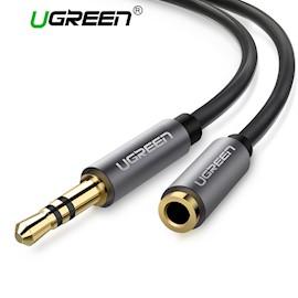 აუდიო კაბელი UGREEN AV118 (10538) 3.5mm Male to 3.5mm Female Extension Cable 5m (Black)
