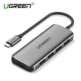 ადაპტერი UGREEN 50312 Type C USB 3.1 Hub Adapter with 4 USB 3.0 PD Charging Ports