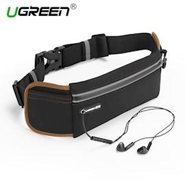 წელის ჩანთა მობილურისთვის და MP3 ფლეერისთვის UGREEN LP112 (20818) Outdoor Running Waist Belt Pack (Black)