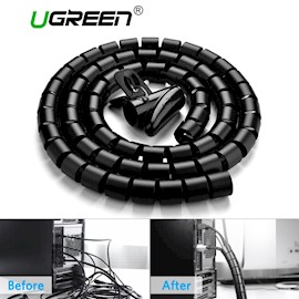 კაბელ მენეჯმენტი UGREEN LP121 (30819) Protection Tube DIA 25mm 3m (Black),LP121