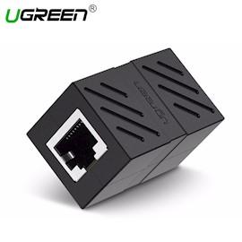 ქსელის კაბელის გადასაბმელი UGREEN NW114 (20390) RJ45 Cat7 / 6 / 5e Ethernet Adapter 8P8C Network Extender Extension Cable for Ethernet Female Cable (Black)