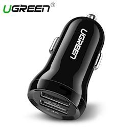 მანქანის USB დამტენი UGREEN ED018 (50875) Car Charger Dual USB Mini 5V / 2.4A Max