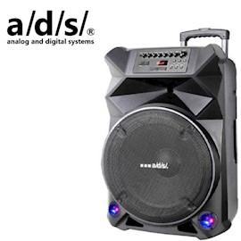კარაოკე დინამიკი ADS SPEAKER  Trolley BD-T15D RMS Power 120W Woofer 15 Twitter 1 Bluetooth USB NFC SD Card FM Karaoke LED Lighting Wireless Mic 2pc Remote control GW 21.9KG