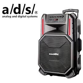 კარაოკე დინამიკი ADS SPEAKER  Trolley 120W 15inch with Bluetooth USB SDF MICS AR-T15F Speaker Size 15inch 2 Microphone Function Trolley With Battery 7.5Ah