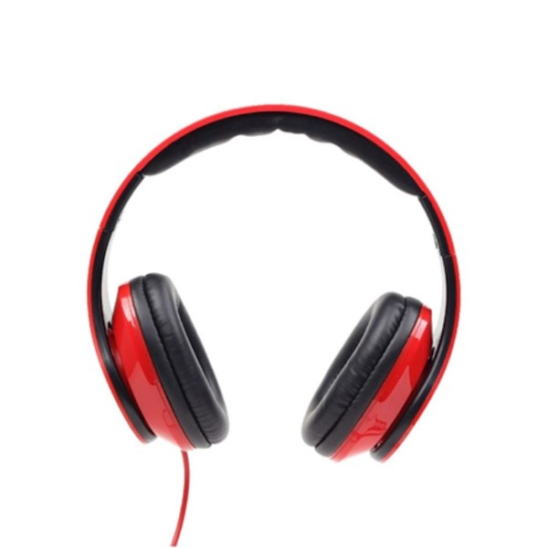 "Gembird MHS-DTW-R Folding stereo headphones ""Detroit"", red"