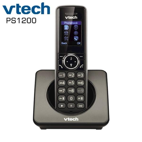 სახლის უსადენო ტელეფონი VTech PS1200 DECT 6.0 Answering System and Caller ID Black