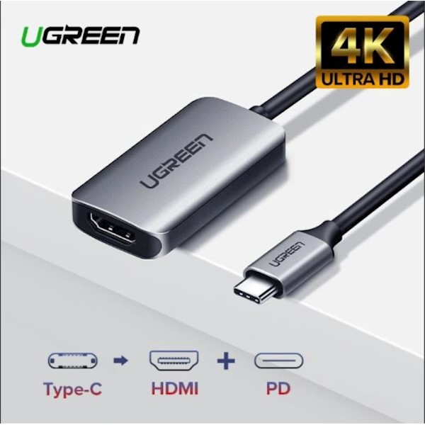 ადაპტერი UGREEN CM159 (50313) UGREEN USB Type C to HDMI Converter with PD