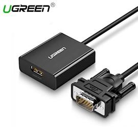 ვიდეო ადაპტერი UGREEN 60814 VGA to HDMI Converter Black