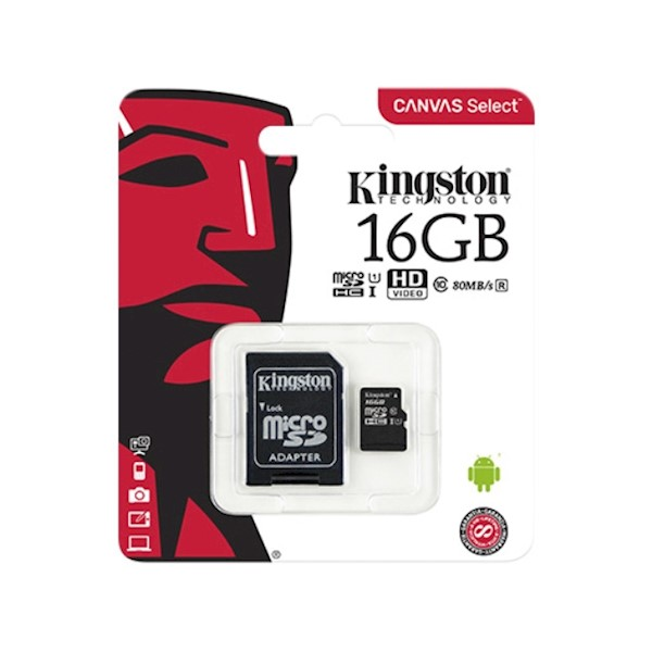 KINGSTON SDCS16GB micro 16GB WITH SD ADAPTER