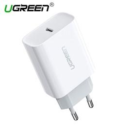 მობილურის დამტენი UGREEN CD137 (60450) Fast Charging Power Adapter with PD 18W EU (White)