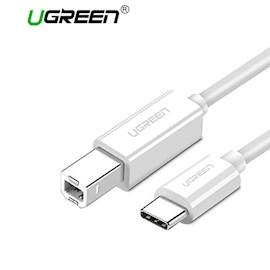 პრინტერის კაბელი UGREEN US241 (40417) USB Type C to USB-B Cable White  1.5M