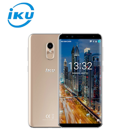 IKU U2 GOLD / Screen - 5.7''(1440 X 720) Full lamination, 16.7M Screen Color / Proc -  MTK6737H, Quad Core 1.3GHz / Network - 2G/3G/4G   / Ram - 3GB /  Rom -  32GB / Camera - Front (13MP + 8MP) & 13MP Rear, Auto-focus, LED Flash, Digital Zooming, Face Detection, Panorama, HDR, Samsung  sensor, supports night vision / Video - Video 1080p@30fps / Cardslot  - microSD up to 128GB / Lighting - YES / Battery - Li-ion 3000mAh  / Wide Angle Metal / FingerPrint / Power Bank Optional / Color - GOLD