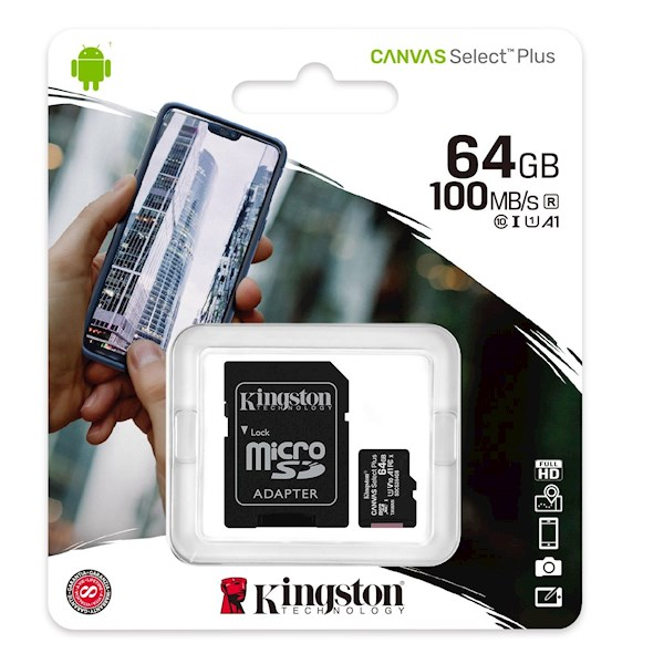 KINGSTON SDCG2/64GB micro 64GB WITH SD ADAPTER