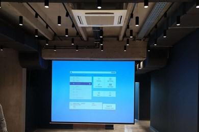 ლიბერთი ბანკის სათაო ოფისი - პროექტორის / ეკრანების ინსტალაცია