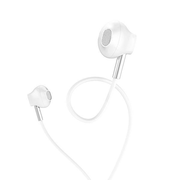 ყუსასმენი HOCO M57 Sky sound universal earphones with mic White
