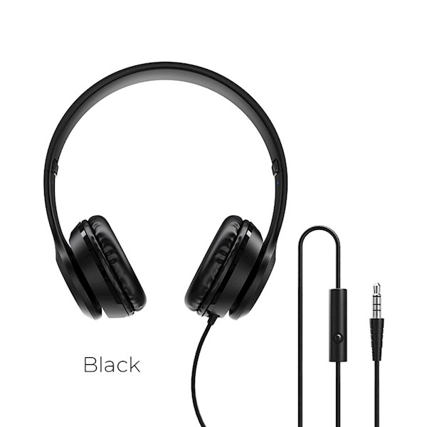 ყურსასმენი BOROFONE BO5 Star sound wired headphones black