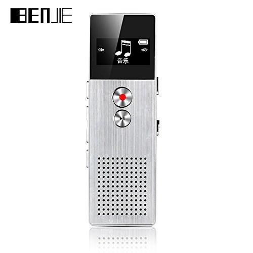 დიქტოფონი Benjie BJ-M23 C6 Metal Voice recorder and MP3 8GB flash memory Silver