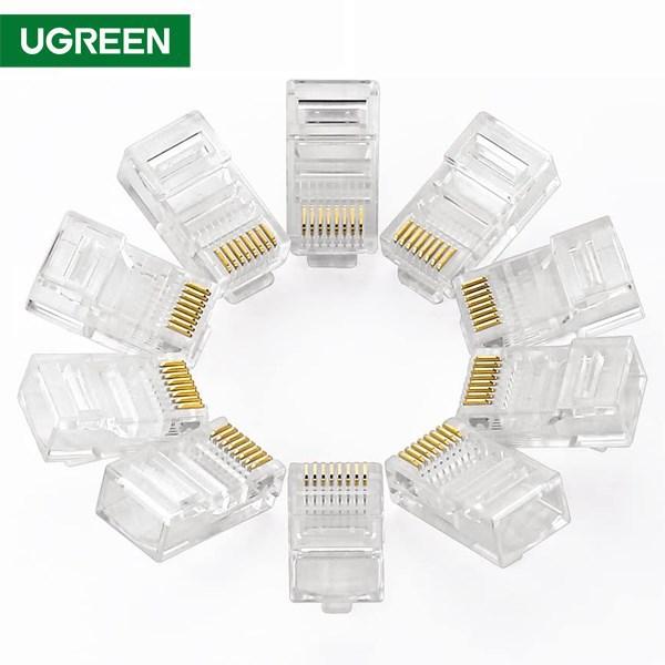 ქსელის კაბელის კონექტორი UGREEN NW110 (20329) RJ45 Network Connector for UTP Cat 5, Cat 5e 10pcs