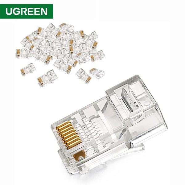 ქსელის კაბელის კონექტორი UGREEN NW110 (20331) RJ45 Network Connector for UTP Cat 5, Cat 5e 50pcs