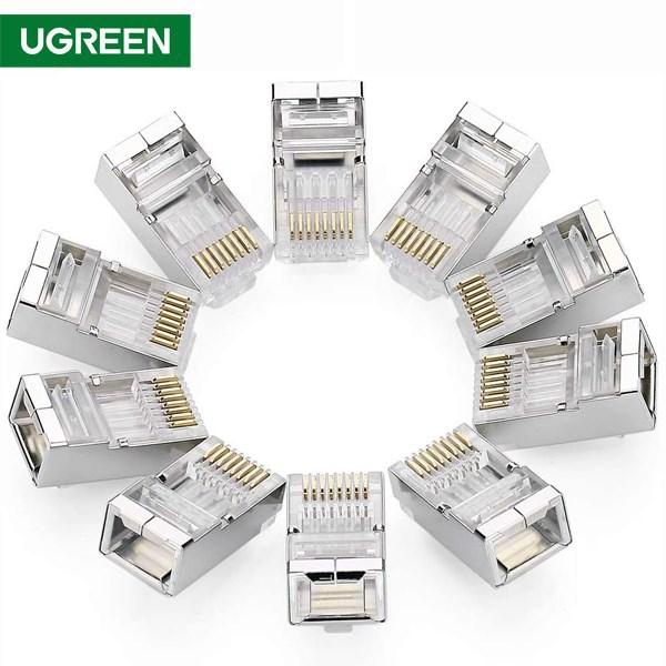 ქსელის კაბელის კონექტორი UGREEN NW111 (20333) Cat6 Connector Shielded Crystal Head 10Pack