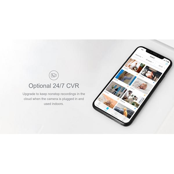ვიდეო სათვალთვალო კამერა Blurams S15F Snowman Security Camera 1080p Wifi Two-Way Audio Night Vision Works with Alexa 360 Degree