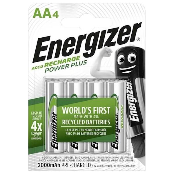 ელემენტი Energizer Power Plus NH15 AA 2000mAh აკუმულატორი, 4ც შეკვრა E300626700, 7012