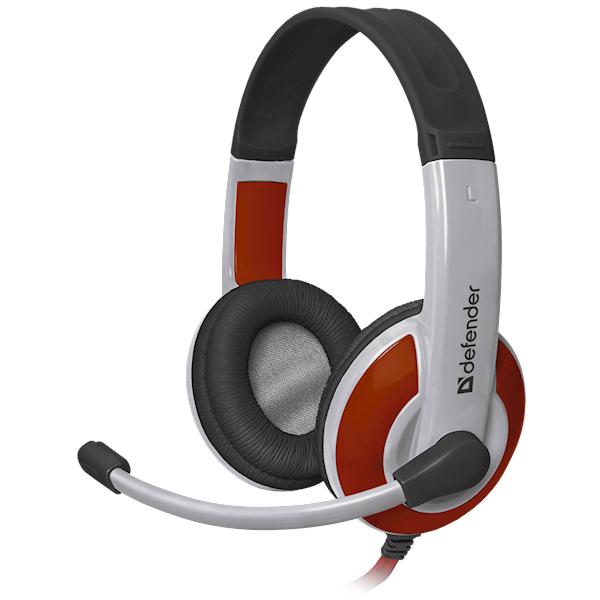 ყურსასმენი Defender Warhead G-120 Gaming headset, red + white, cable 2 m