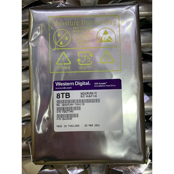 მყარი დისკი Western Digital SATA 3.5 8TB 5400rpm 64Mb WD82PURX-78